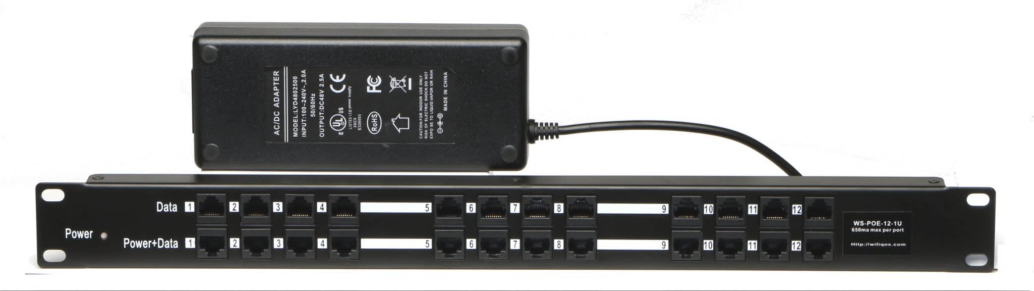 Passive 8 port POE injector